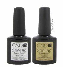 Creative Nail Design CND UV Polish Gel Coat SET DUO 2 pcs ~ BASE + TOP ~ SHELLAC