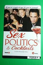 SEX POLITICS & COCKTAILS COVER ART MINI POSTER BACKER CARD (NOT a movie dvd )