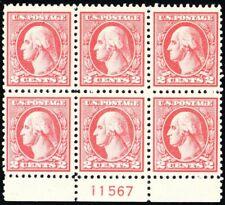 528, Mint NH VF 2¢ Plate Block of Six Stamps - Stuart Katz