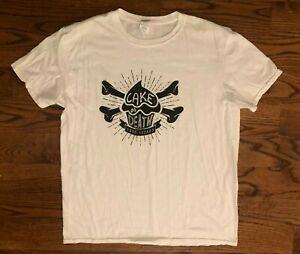 Eddie Izzard Comedian Cake Or Death Cupcake Crossbones White T-Shirt Men's XL