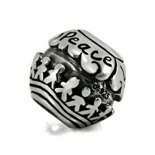 BEAD AUTHENTIC OHM BEADS RETIRED World Peace AHB005 EUROPEAN SILVER 925