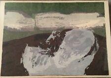Signed Sister Mary Corita Kent Pop Art Serigraph 'As Smoke is Blown Off' 1960