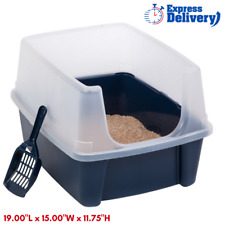 New listing Jumbo Large Cat Litter Box Pan Enclosed Hooded Covered Kitty House With Scoop