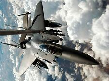 Military Air avion fighter bomber f-15e strike eagle carburant Poster Print bb969a