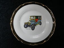 C1960's Cabinet Plate with a Transfer Print of a Daimler 1905 Vintage Car.