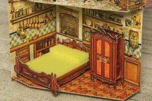 1/12 Dollhouse Miniatures Furniture for Dolls Bedroom Decor Room Toys CARDBOARD