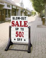 Swinger Changeable Letters Deluxe Sidewalk Message Board Sign Street Road Curb