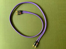 """Pair QED """"Qunex 1"""" interconnects, phono cables,1metre, RCA plugs, 99.999% OFC"""