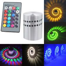 3W RGB LED Light Bulb Spiral Ceiling Wall Lamp Hallway Remote Porch Control Lamp