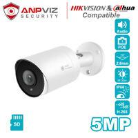 Hikvision Compatible IP POE Camera IPC-B850W-SD 2.8mm Audio SD Slot H.265 IP66