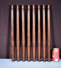 "*21"" Set of 8 Antique Walnut Wood Baluster Posts, Pillars or Columns Salvage"