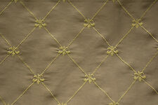 "Silk Embroidery Fabric  for  DRAPERY & UPHOLSTERY Width 60""  Sold Per Yard"