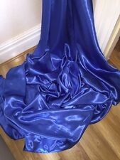 "1 MTR ROYAL BLUE SATIN LINING FABRIC...45"" WIDE"