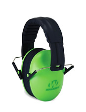 Kids Green Ear Muffs Safety Hearing Protection Game Passive Noise Reduction New