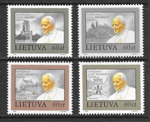 1993 Lithuania full set 4 stamps for the Papal Visit that are unmounted mint