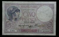 Banknote France 5 Francs 1939