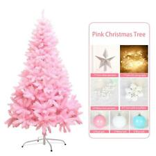 Pink Christmas Tree LED Lights Fiber Optic 1.2m Flash Mode Xmas Decoration