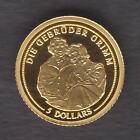 Nauru. 2008 Gold 5 Dollars. Brothers Grimm.. 0.5gram .999 gold.. Proof