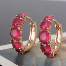 Fashion jewellery! wedding 18K gold filled ruby cool stylish earring