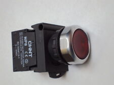 Push button industrial switch illuminated RED 22mm 240V