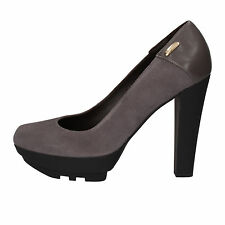 scarpe donna CESARE PACIOTTI 4 US 41 decolte grigio pelle camoscio AE461-C