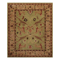 """8'2"""" x 9'11"""" Hand Knotted Arts & Crafts Mission style Tibetan Area Rug Sage Wool"""