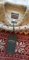 MENS FAT FACE RED CLASSIC FAIR ISLE CHRISTMAS JUMPER MEDIUM M RARE NEW WITH TAGS