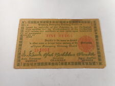 Philippines Emergency Currency 5 Pesos Negros Red Rev Green Obv - # 184091