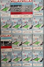More details for 16 x aston villa home programmes