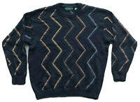 VTG Tundra Canada Men's Knit Sweater Size XL Cosby Coogi Biggie 90s