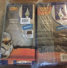 "2 sets Star Wars Window Curtains Tie-Back And Panels 42"" X 62"" Rebels Animated"