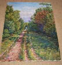 HSP Charles Kiffer (1902-1992) huile sur panneau beau paysage provence env 1960