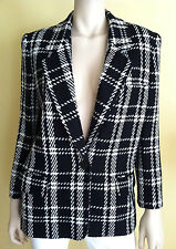 NWOT JH COLLECTIBLES  Women's Career Blazer Long Sleeve Plaid Black White Sz 6P