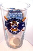 2003 100TH WORLD SERIES NY Yankees vs FLORIDA MARLINS RARE PINT GLASS