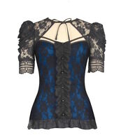 Gothic Victorian Steampunk Lace Stretch Shirt Top Blouse