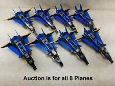 LOT of 8 Lego NINJAGO 9442 Jay's Storm Fighter Jet Glued Read Description!