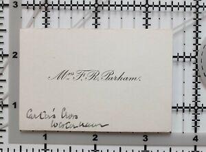 ANTIQUE CALLING CARD MRS F. R. PARHAM WESTERHAM