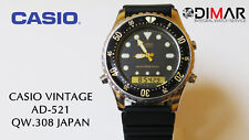 CASIO VINTAGE AD-521 DIVERS QW.308 JAPAN DUAL WR.100 Ø.44.5mm, YEAR 1986