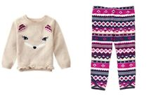 NWT Gymboree Plum Pony Fox Sweater Leggings Outfit 2T Toddler Girl