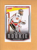 2007 08 UPPER DECK VICTORY ROOKIE # 305 CURTIS MCELHINNEY CALGARY FLAMES RC