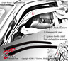 Wind Guards Visor 2pcs for Hyundai Accent 00 01 02 03 04 05 2000-2005 GL 2 Door