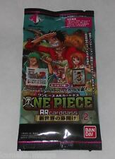 1 Booster carte One piece pack One Piece - AR Carddass 2 AR 2