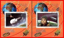 MANAMA 1969 RUSSIA & USA in SPACE - MERCURY & YU.GAGARIN  x2 S/S (L-4)