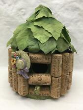 """Handmade Cork & Wood  Bird House 9"""" Tall"""