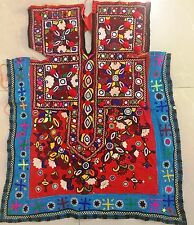 Sewing Craft Indian Vintage Banjara Tribal colorful mirror embroidery Fabric