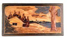Vintage Hand Carved Relief Folk Art Wood Wall Plaque - Sweden - B.S. Ogelstam