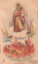 SANTINO CON LA BEATA VERGINE DEL CARMELO CON L'INFERNO   32-126