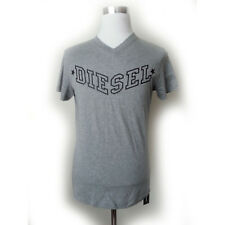DIESEL Men Size M Gray Graphic V-neck T-Shirt New with Tag
