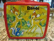 VINTAGE RARE JAPANESE 1970's BAMBI FOREIGN LUNCHBOX