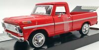 Motor Max 1/24 Scale Model Car #73200AC - 1969 Ford F-100 Pick Up - Red